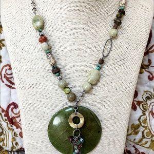SILPADA 925 Kabkaban Leaf Howlite Necklace N1855
